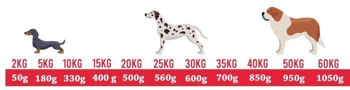 Comida para perros Bigdog Tabla Nutricional