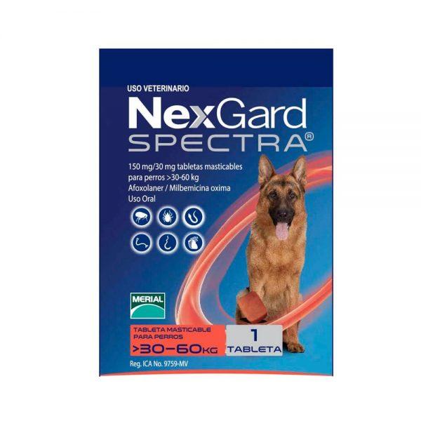 NexGard Spectra para Perros de 30.1 a 60 Kg.