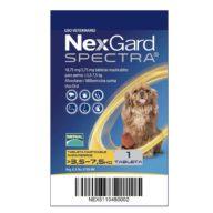 NexGard Spectra para Perros de 3.6 a 7.5 Kg.