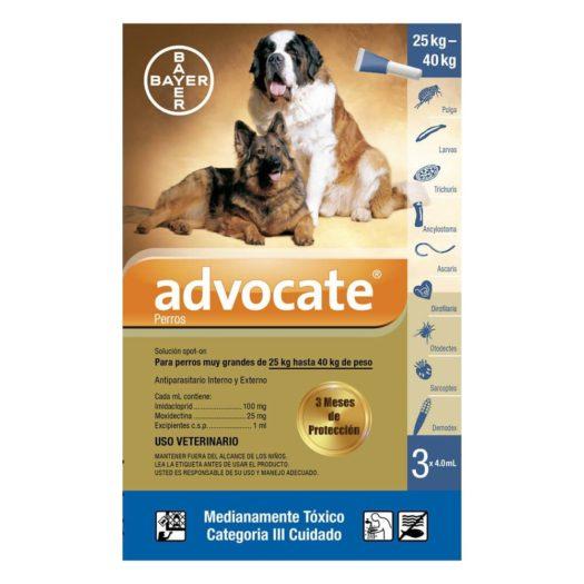 Advocate para Perros 25 Kg a 40 Kg