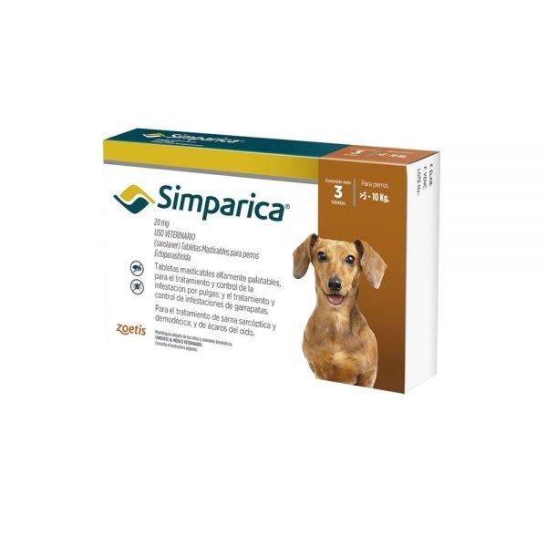 Simparica para perros de 5 a 10 Kg
