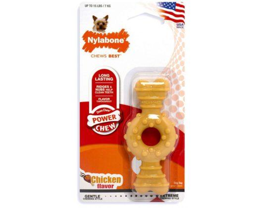 NYLABONE Power Chew Hueso Ring Petite Pollo