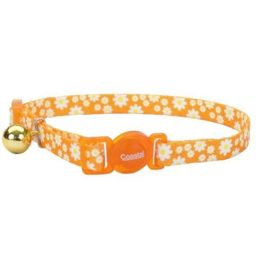 COASTAL Collar Gato Fashion Flores Daisy Naranja
