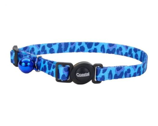 COASTAL Collar Gato Fashion Leopardo Azul