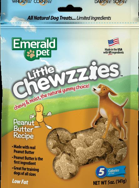 EMERALD PET Dog Snack Little Chewies-Peanut Butter 5 OZ
