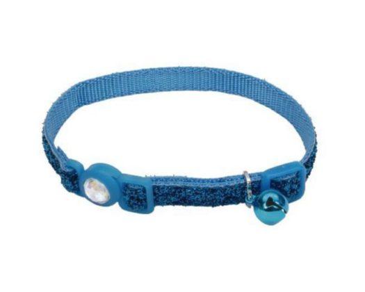 COASTAL Collar Gato Brillante Azul