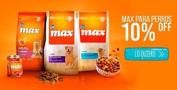 Comida para perros en tienda de mascotas